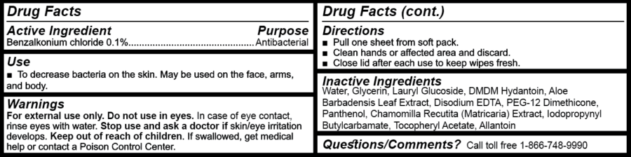Drug Facts Box (72-ct wipes)